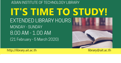 Extended Library Hours to 1 AM (21 Feb. – 5 Mar. 2020)
