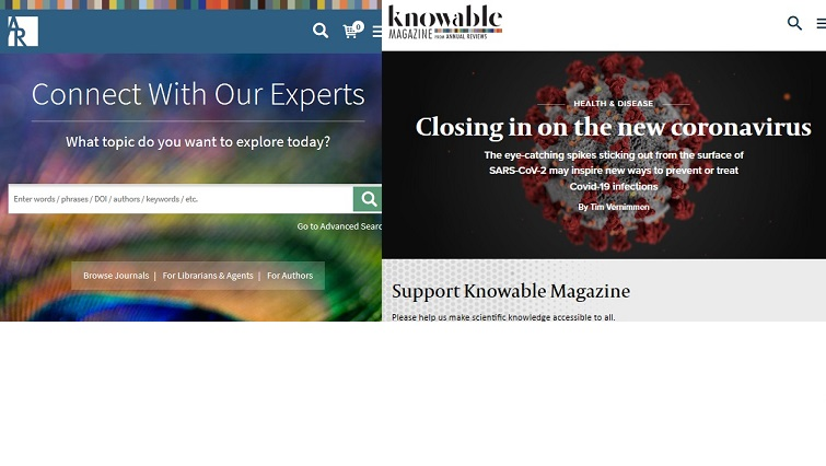 Free access to Annual Reviews and Knowable Magazine