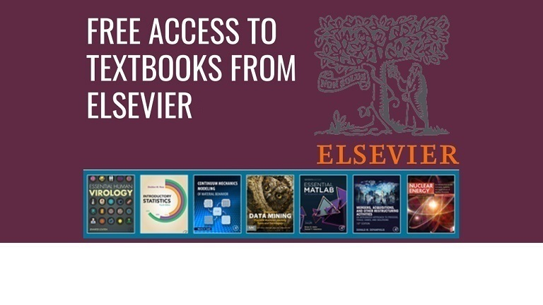 Free Access to Textbooks from Elsevier until 31 Aug 2020