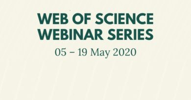 Web of Science Online Training : 05-19 May 2020
