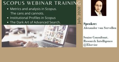 SCOPUS webinar trainings in July 2020