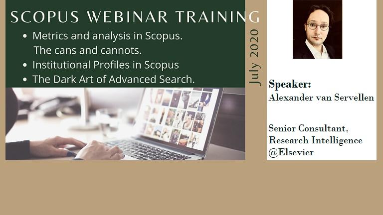 SCOPUS webinar trainings in July 2020