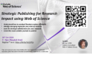 Training: Strategic Publishing for Research Impact using Web of Science