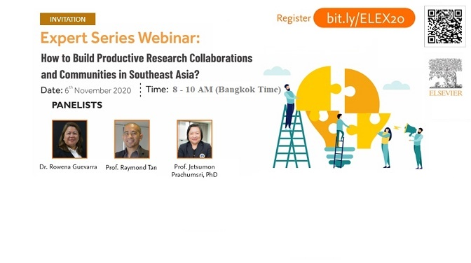 Workshop on How to Build Productive Research Collaborations and Communities in Southeast Asia? 6 Nov. 2020 (8-10 AM)