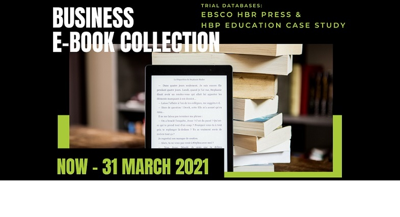 Trial of eBook's collection (Now – 31 March 2021)