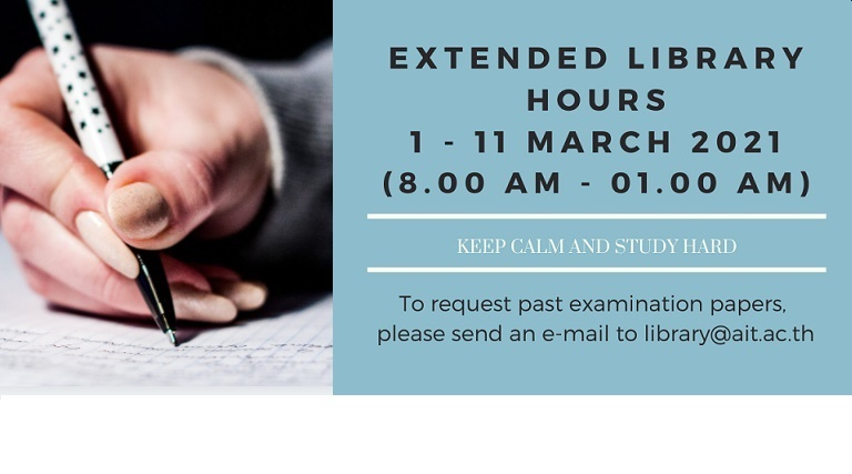 Extended Library hours to 1 a.m. (1-11 March 2021)