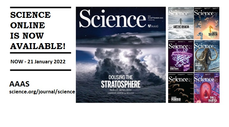 Trial of Science Online (Now – 21 January 2022)