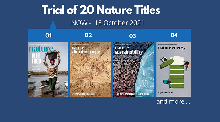 Trial of 20 Nature Titles (Now – 15 October 2021)